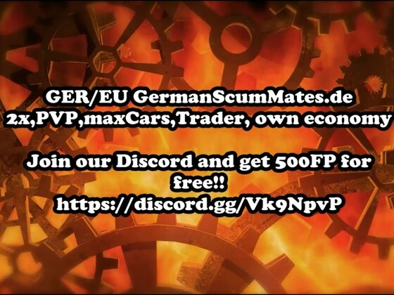 SCUM - GER/EU GermanScumMates.de 2x,PVP,maxCars,Trader, own economy