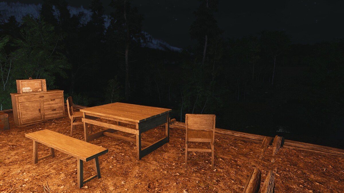 Unsere Chillout Ecke bei Nacht 2