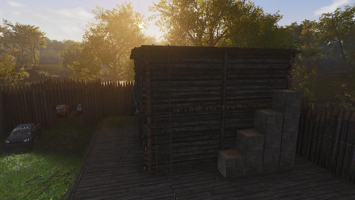 Wie bekomme ich Material aufs Dach?