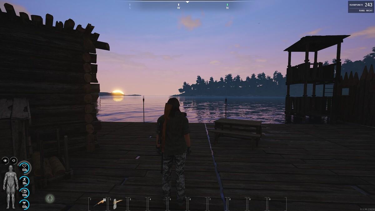 Sonnenuntergang zu Hause