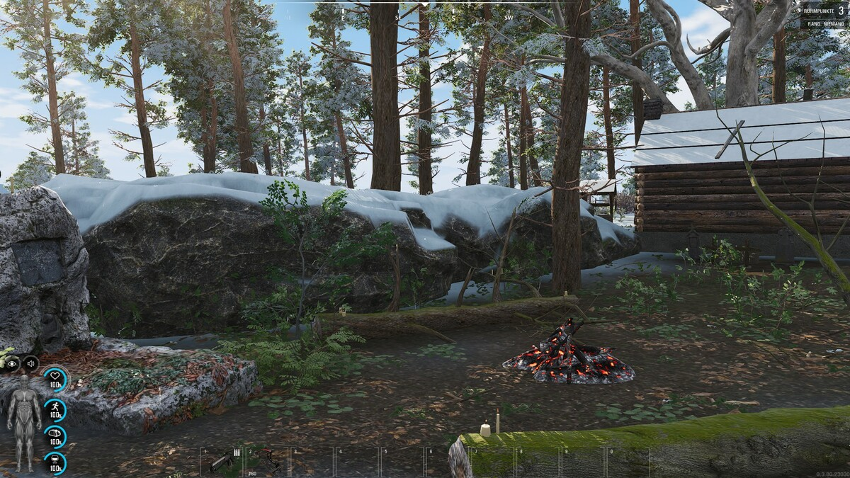 Hinter der Hütte