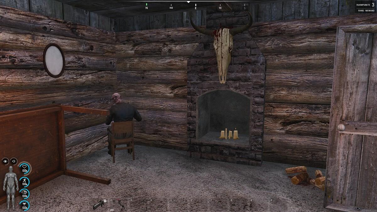 In der Hütte