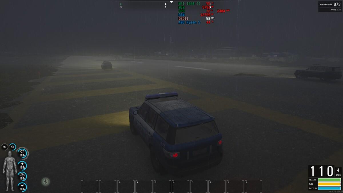 Rennen auf dem Flugfeld