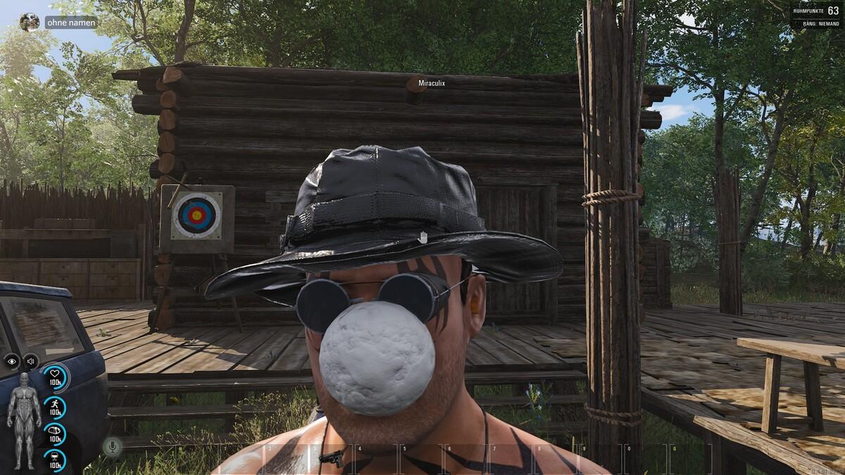 Ich gebe mir die Kugel.