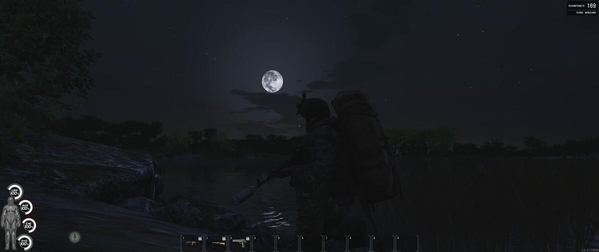 Im Mondschein unterwegs