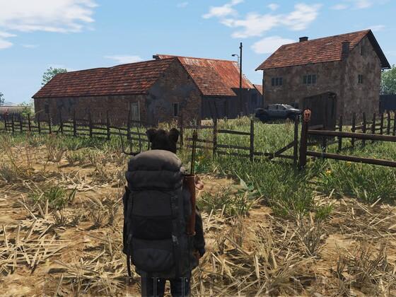Bauernhof wird nun befestigt