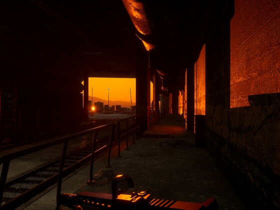 Sonnenaufgang in der Naval base