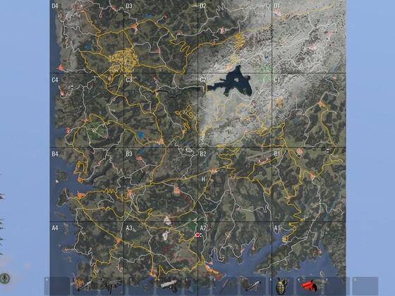 Airdrop steht in der Luft neu Location auf der Karte