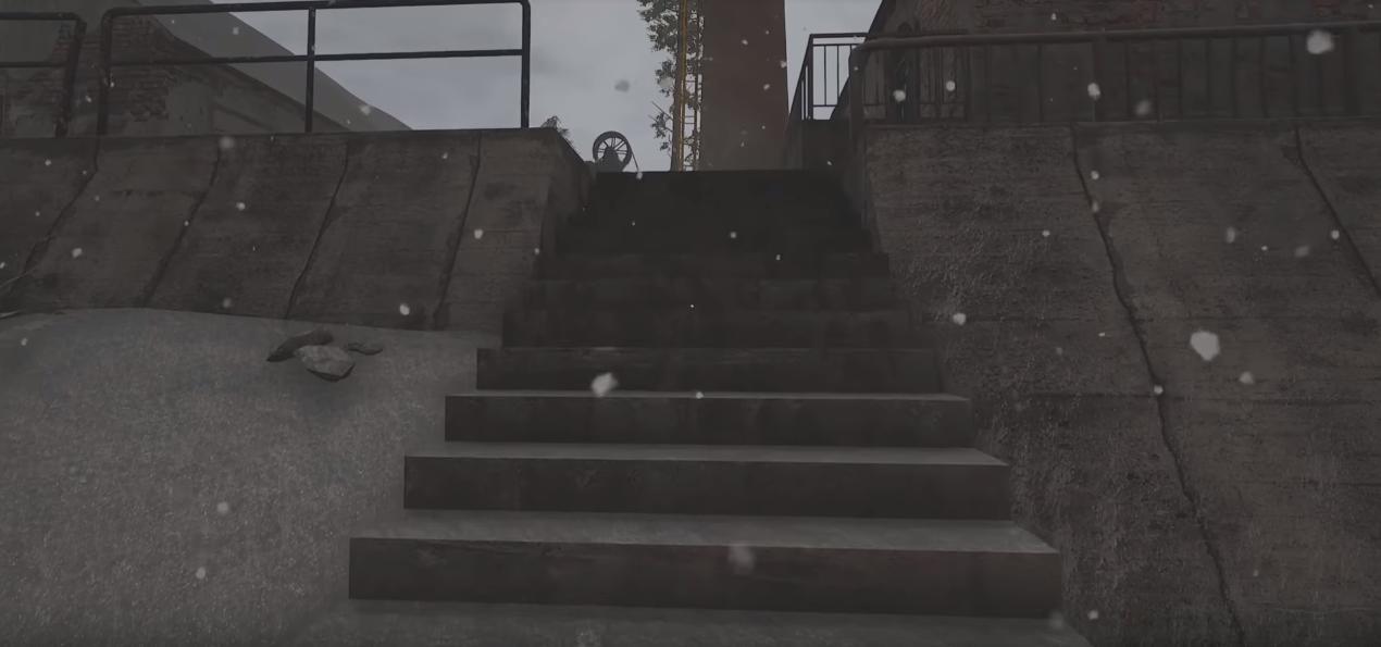 Kohlemine Treppenaufgang