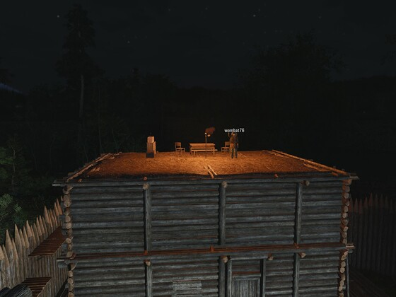 Unsere Chillout Ecke bei Nacht 1