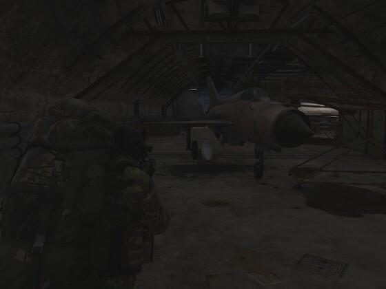Auf den großen Airfield in den unterirdischen Scheltern 3
