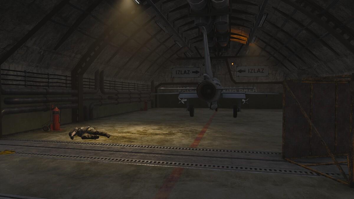 Auf den großen Airfield in den unterirdischen Scheltern 2