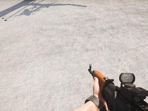 Red Dot auf der SVD (Kampf-Modus)