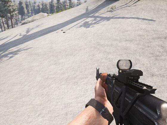 Red Dot auf der AK47