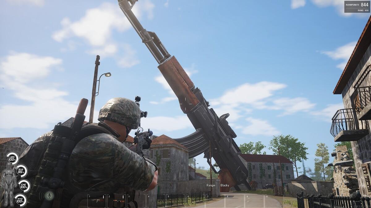 Steh halt auf größere Waffen