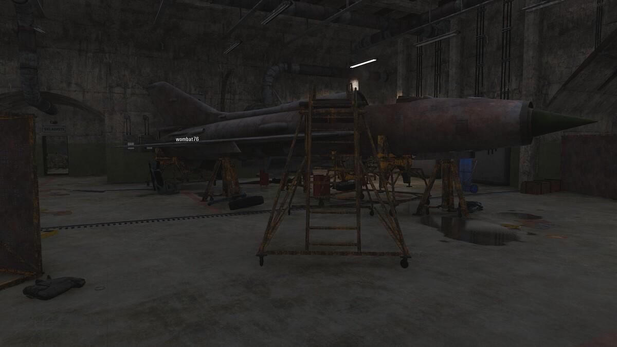 Auf den großen Airfield in den unterirdischen Scheltern 1