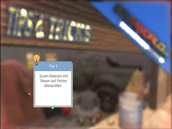 SCUM-Tip:  Spieldateien mit Steam überprüfen