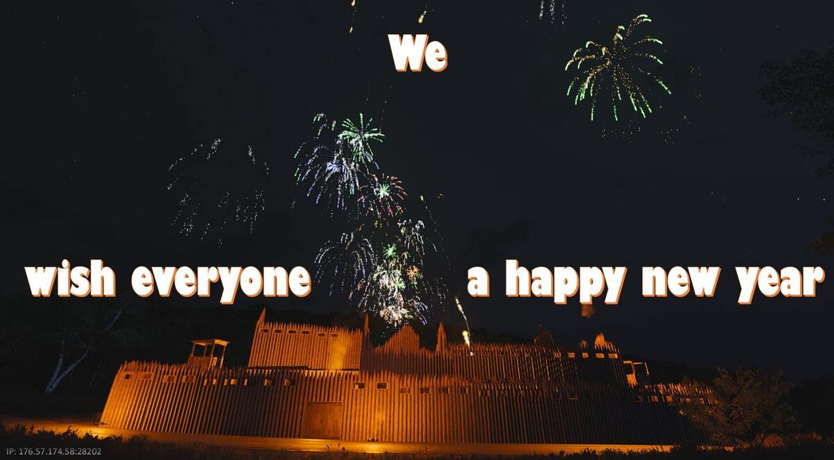 Wir wünschen allen einen guten Rutsch ins neue Jahr