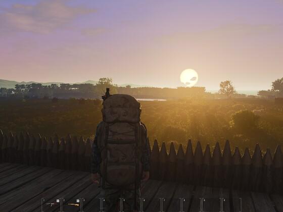 Sonnenaufgang in der Base